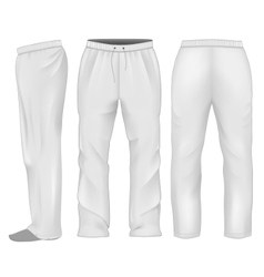 Men sweatpants white vector