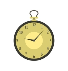 Pocket watch icon in flat style vector image
