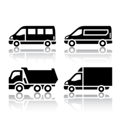Set of transport icons - freight transport vector image vector image