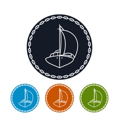 Icon yacht vector image