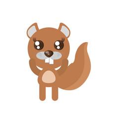 Kawaii beaver animal toy vector