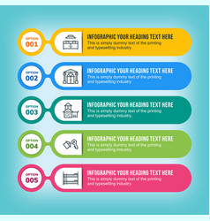 real estate infographic in multicolored lines vector image vector image