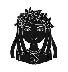 ukrainianhuman race single icon in black style vector image vector image