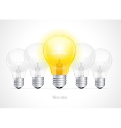 bulb icon with idea concept vector image