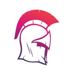 spartan helmet element for logo or print vector image vector image