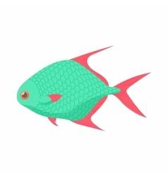 Tropical fish icon cartoon style vector image vector image