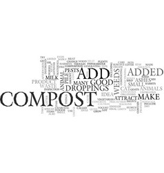 what not to compost text word cloud concept vector image vector image