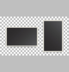 photo frame on isolated background for your vector image vector image