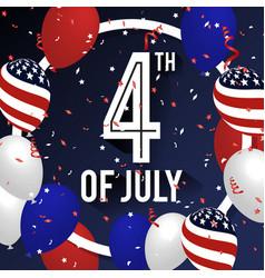4th july celebration background design vector image
