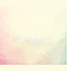 abstract light geometric polygonal background vector image
