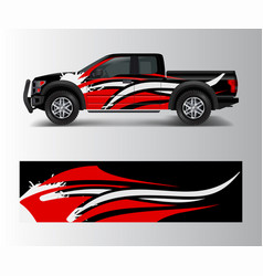Abstract racing graphic background for offroad vector
