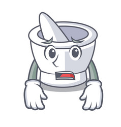 Afraid mortar mascot cartoon style vector