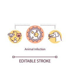 animal infection concept icon illness transmitted vector image