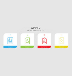 apply icons vector image