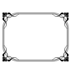 Art nouveau decorative frame vector