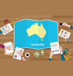 Australia economy country growth nation team vector