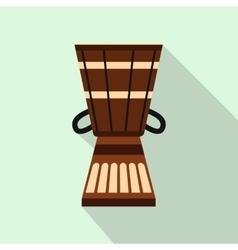 Australian ethnic drum icon flat style vector image