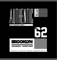 Authentic co brooklyn california united state 62 vector