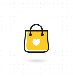 bag shopping icon vector image