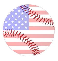 baseball stars and stripes vector image