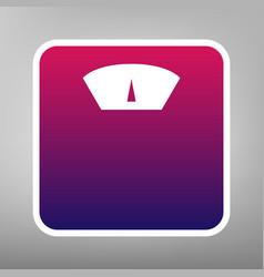 Bathroom scale sign purple gradient icon vector