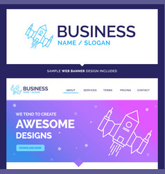 Beautiful business concept brand name spacecraft vector