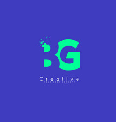 Bg letter logo design with negative space concept vector