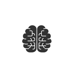 brain icon brain black icon brain isolated on vector image