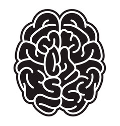 brain mind icon simple style vector image