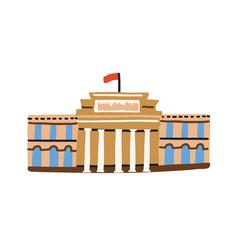 building national prado museum in madrid spain vector image