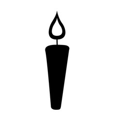 Candle flame isolated icon vector