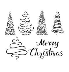 Christmas tree set 3 vector