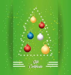 christmas voucher design vector image