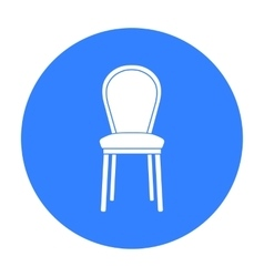 Classical chair icon in black style isolated on vector