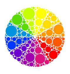 Color wheel or color circle vector