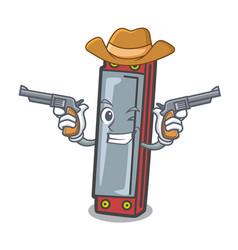 Cowboy harmonica character cartoon style vector