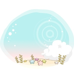 Cute starry garden vector image
