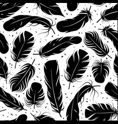 feather seamless pattern curved feathers vector image