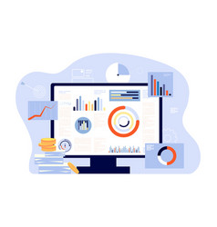 financial report and accounting audit investment vector image