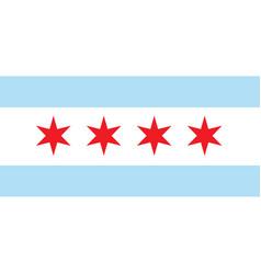 Flag chicago vector