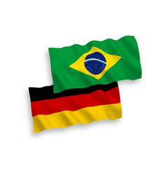 Flags brazil and germany on a white background vector