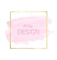 frame-watercolor-pink vector image