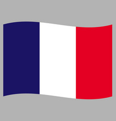 french flag wave pattern background vector image