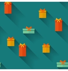 Gifts on a blue background vector image