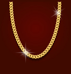 Gold chain in form obesity or bracelet vector
