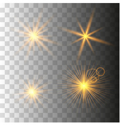 gold glowing light set vector image