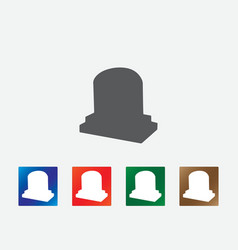 Gravestone icons vector