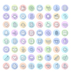 Icons line rounded ui vector