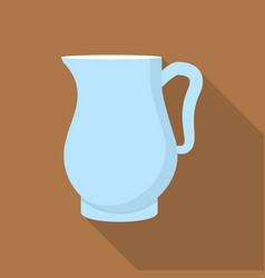 jug icon flat style vector image