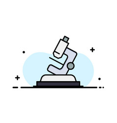 Lab microscope science zoom business flat line vector
